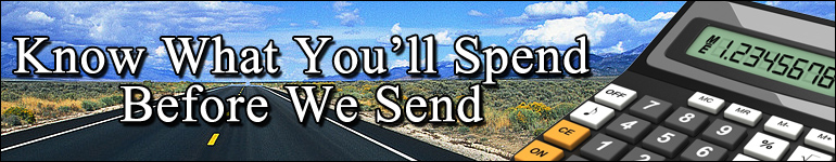 Know What You'll Spend Before We Send