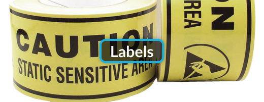 Picture of static-safe labels