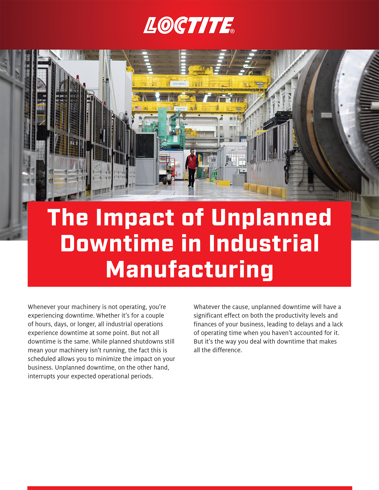 Impact of Unplanned Downtime in Industrial Manufacturing p1