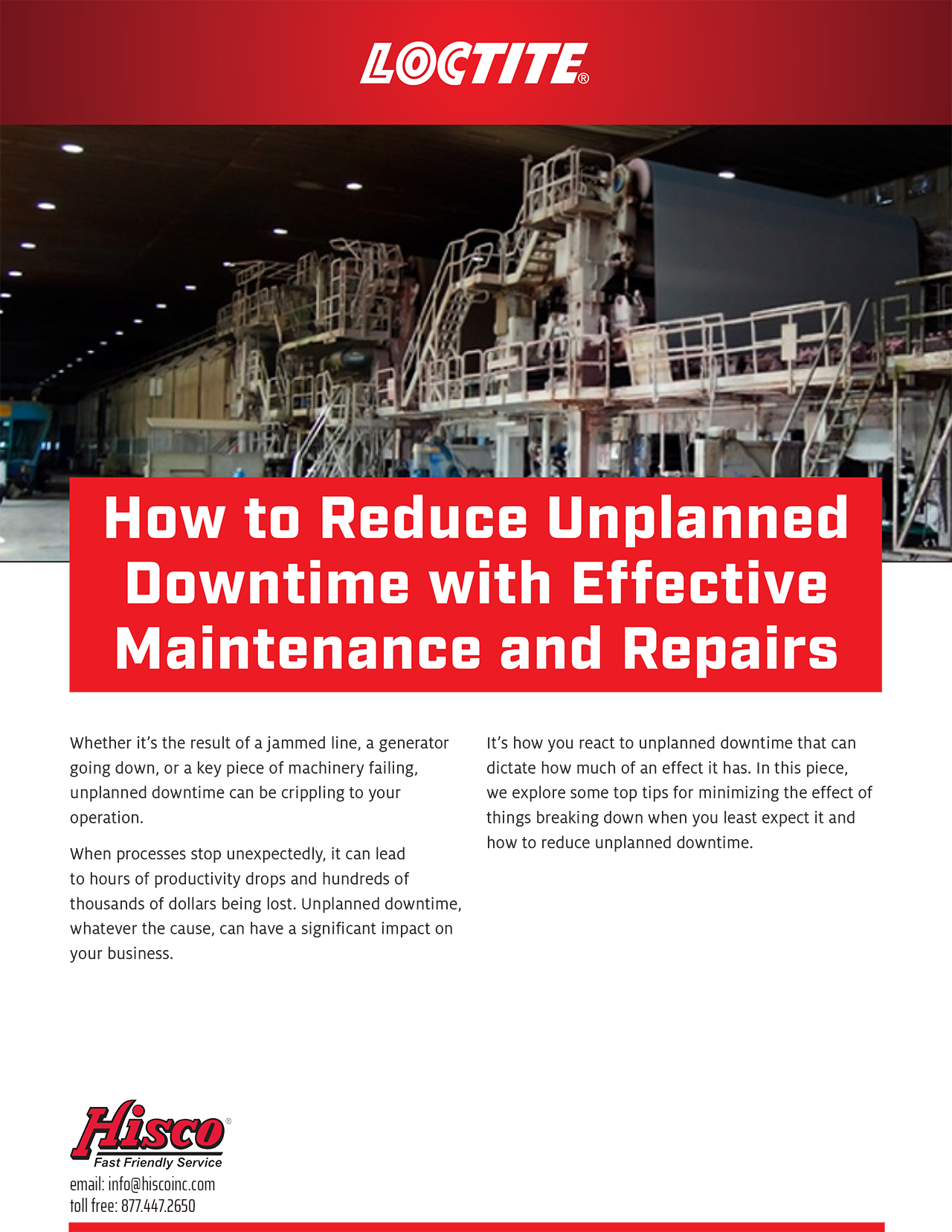 How to Reduce Unplanned Downtime with Effective Maintenance and Repairs p1