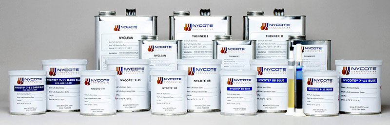Photo of the Nycote family of coatings