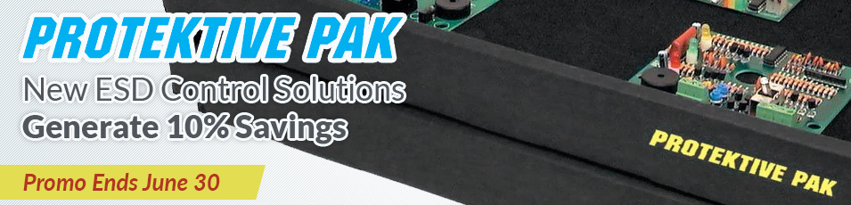 Protektive Pak Logo - New ESD Control Solutions, Generate 10% Savings - Promo Ends September 30th