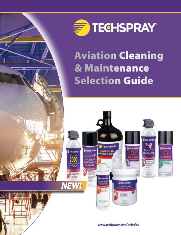 Techspray Aviation Cleaners Brochure