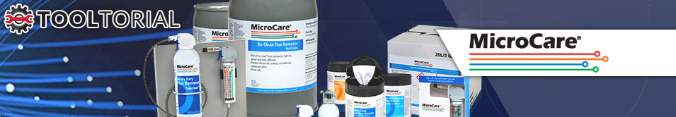 Microcare Tooltorial header image featuring several product photos