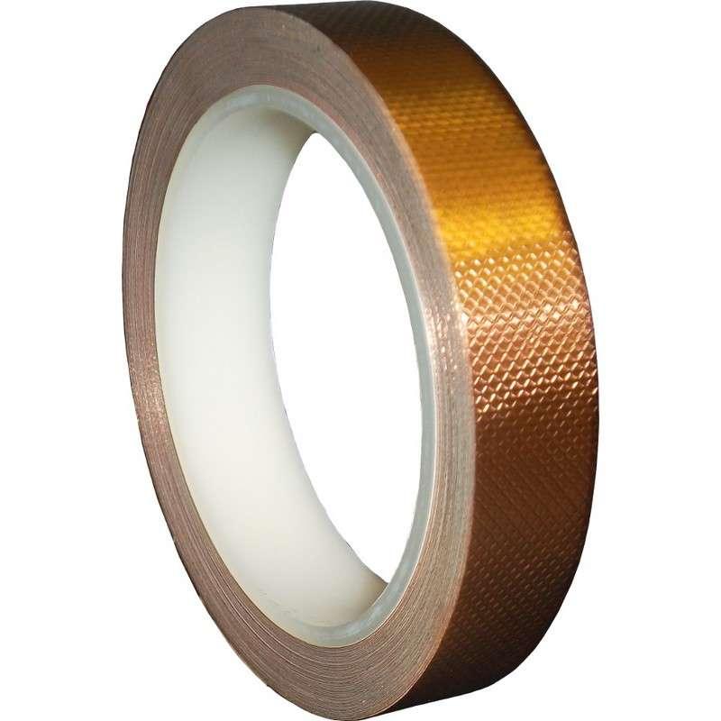 "3M 1245 Series 4 mil EMI Shielding Embossed Copper Tape, 3/8"" x 18 yards"