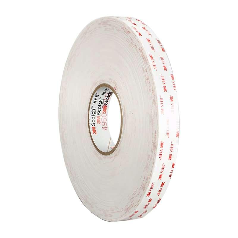 """3M™ VHB™ White Tape 4930, ½ x 12"""""""