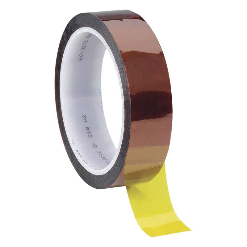 3M 92 Polyimide Film Electrical Tape, Amber, 0.375in x 36yds, 1 roll minimum