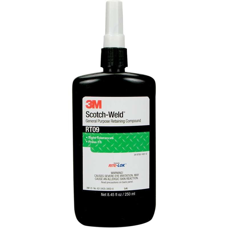 3M™ Scotch-Weld™ General Purpose Retaining Compound RT09, Green, 50 mL Bottle, 10/case