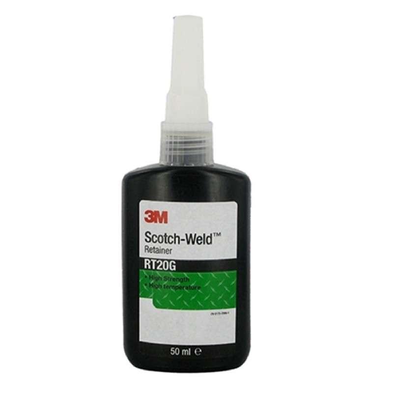 3M™ Scotch-Weld™ High Temperature Retaining Compound RT20G Green, 50 mL Bottle, 10/case