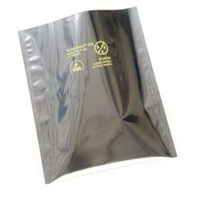 "Dri-Sheild 2000 ESD-Safe 3.6mil Moisture Barrier Bag for ESD/RFI/EMI Protection, 20 x 20"", 100 per Package"