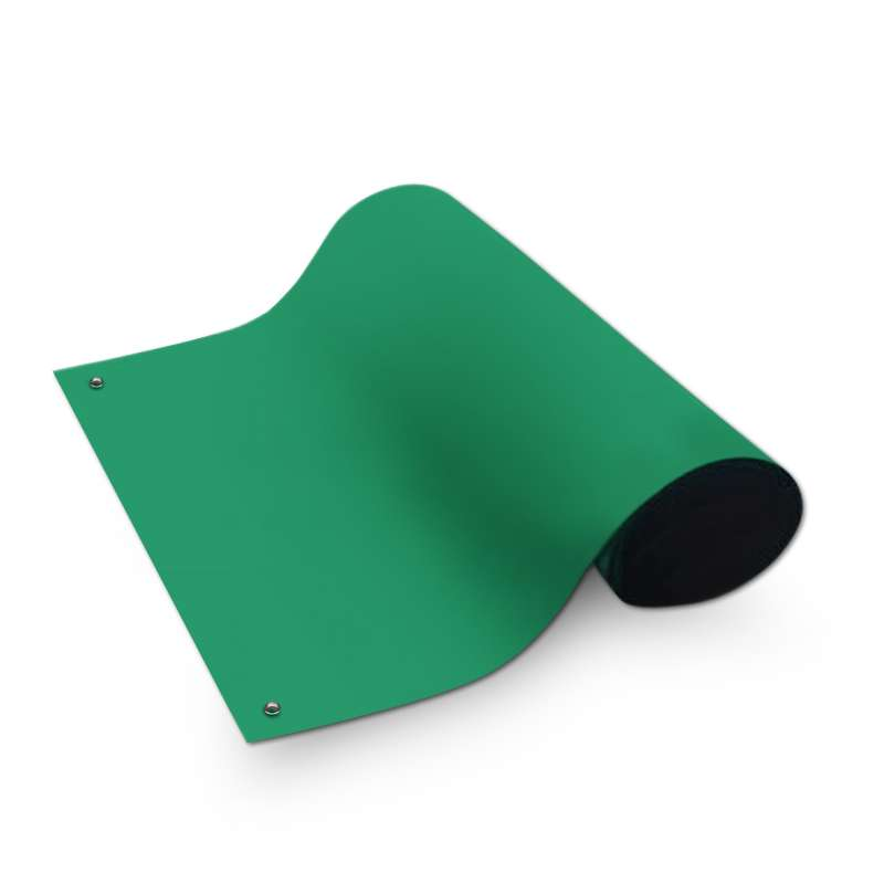 """Dualmat™ 2-Layer Diss/Cond Rubber Matting Roll without a Ground Cord or Snaps, Green/Black, 48"""" x 40' x .080"""""""