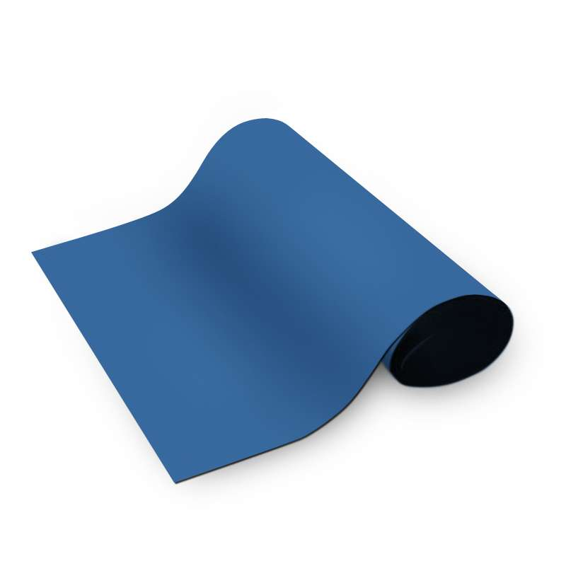 """Dualmat™ 2-Layer Diss/Cond Rubber Matting Roll without a Ground Cord or Snaps, Royal Blue/Black, 48"""" x 40' x .080"""""""