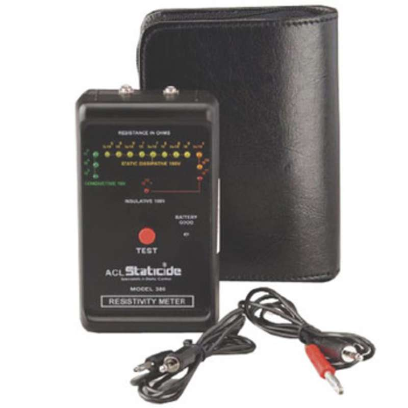 ESD-Safe Pocket Size Resistivity Meter with Case
