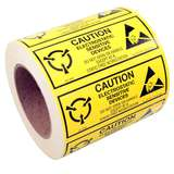 "Label, Yellow/Black 2"" x 5"" 1000/Roll ""Caution Sensitive Devices"""
