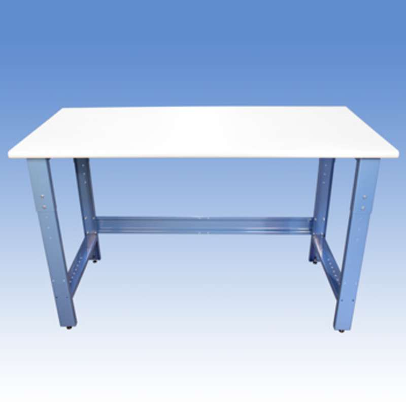 """Adjustable Height Non-ESD Workbench with 1000 lb Weight Capacity, Rolled Front Edge and Glides, 24 x 72"""""""