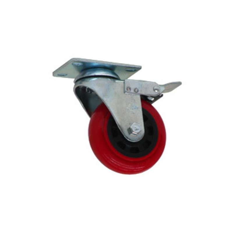 """Locking Urethane Casters for 96"""" and 120"""" All-Spec Benches, 4"""" Diameter, 6 per Set"""