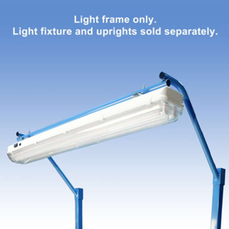 """Light Frame to Attach the All-Spec Overhead Fluorescent Light Fixture to a 72"""" Bench"""