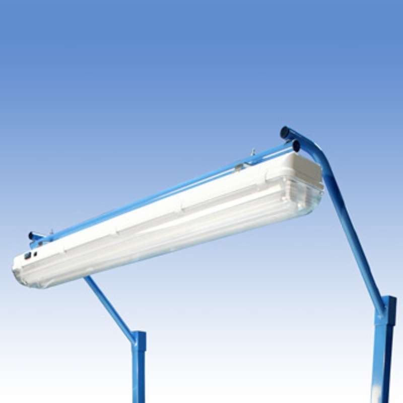 """Overhead Sealed Fluorescent Light Fixture and Light Frame with T8 Bulbs for 60"""" or 120"""" Benches"""