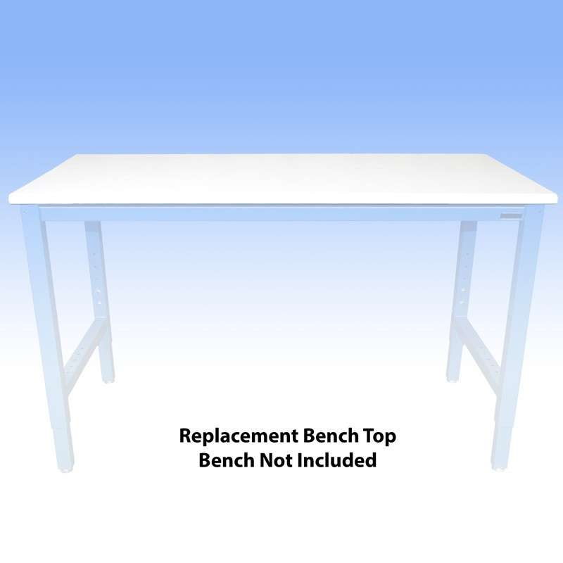 """ESD-Safe Replacement Bench Top with Dissipative LisStat® Laminate (Choose a Color), 36 x 60"""""""
