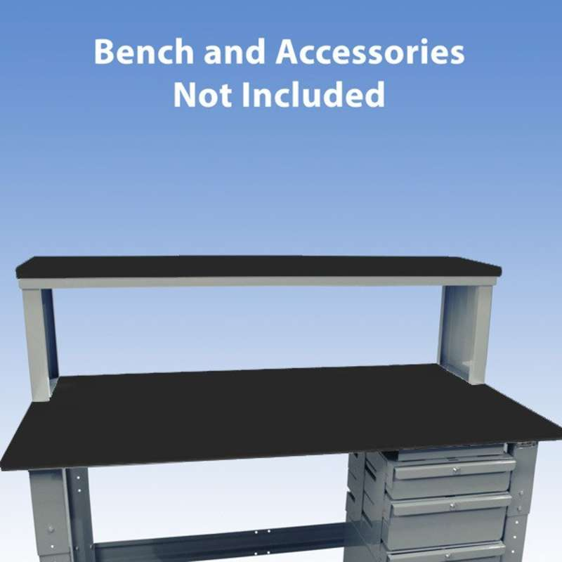 """Non-ESD-Safe Instrument Shelf for Chemical Resistant Benches, Grey, 13 x 72"""""""