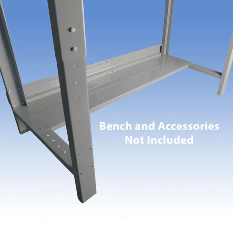 """Non-ESD-Safe Steel Bottom Shelf for Chemical Resistant Benches, Grey, 15 x 68"""""""