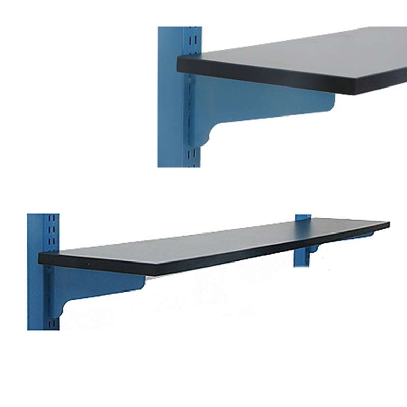"""Adjustable Chemical Resistant Phenolic Resin Shelf for 48"""" and 96"""" All-Spec Benches, Black, 12 x 48"""""""