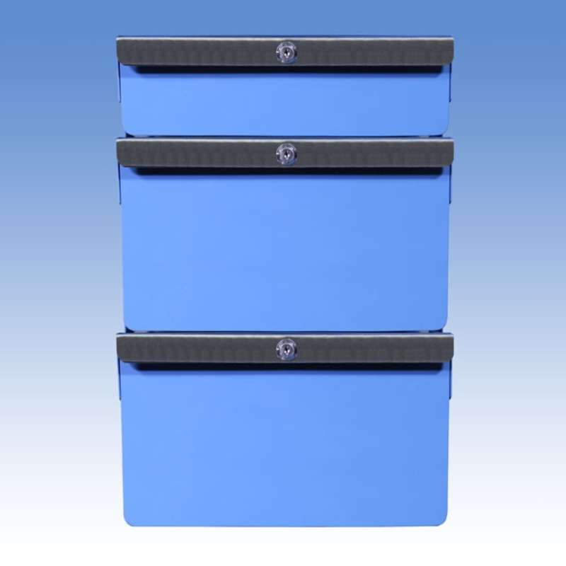 """Triple Stacked 2""""/6""""/6"""" Steel Drawers for All-Spec Heavy Duty Benches"""