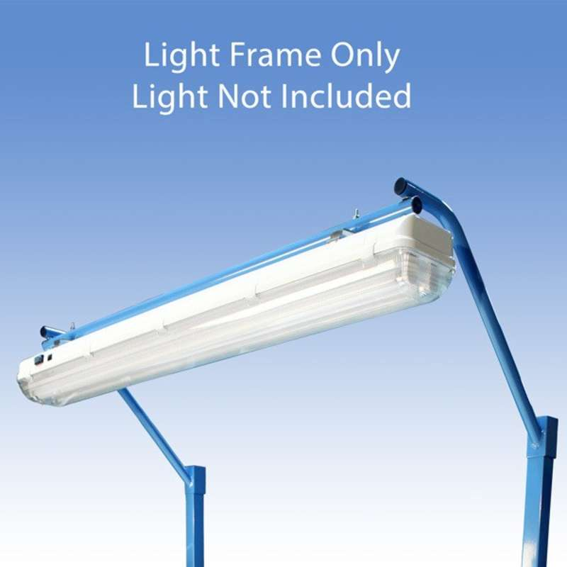 """Light Frame to Attach the All-Spec Overhead Fluorescent Light Fixture to a 60"""" or 120"""" Heavy Duty Bench, Blue"""