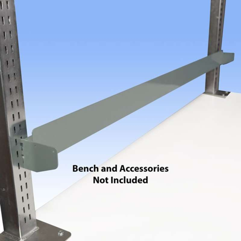 """Bin Rail for 72"""" All-Spec Heavy-Duty Chemical Resistant Benches, Grey"""