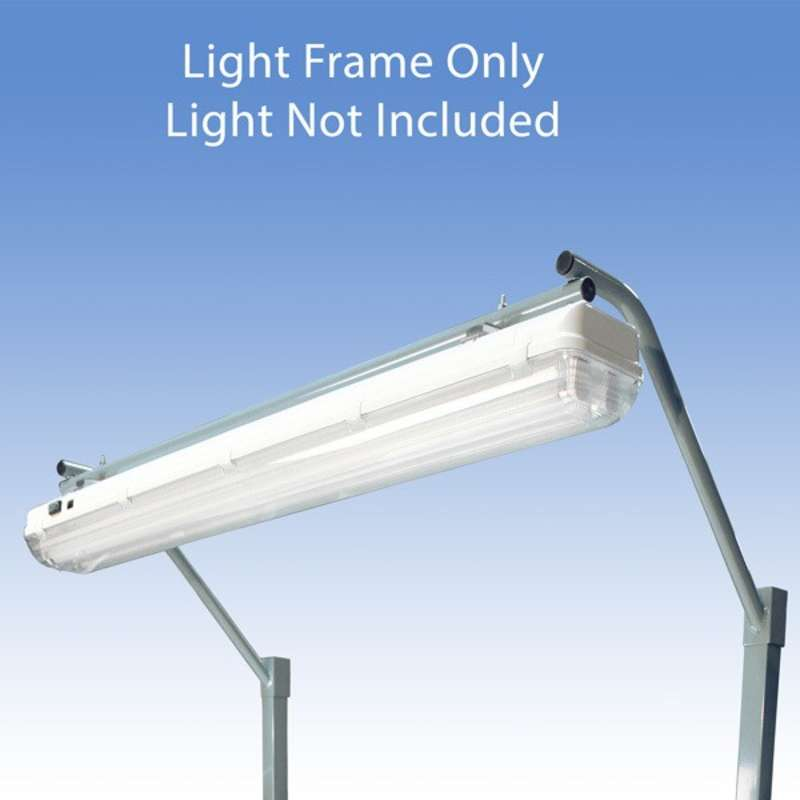 """Light Frame to Attach the All-Spec Overhead Fluorescent Light Fixture to a 72"""" Heavy Duty Chemical Resistant Bench, Grey"""