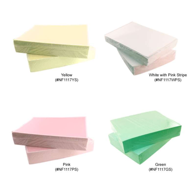 """ESD-Safe White Paper with Pink Stripe , 11 x 17"""", 500 Sheets per Ream"""