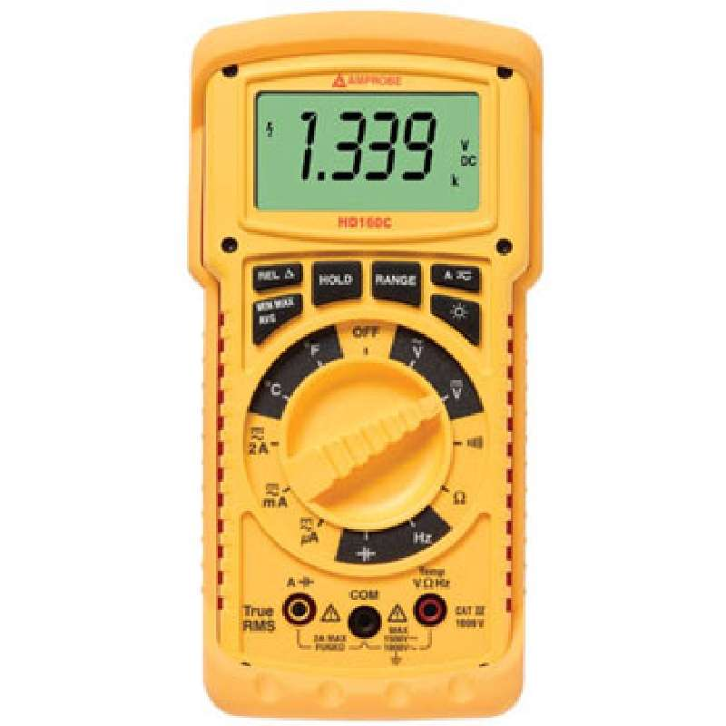 Heavy Duty True RMS Digital Multimeter with Bargraph for Harsh Environments