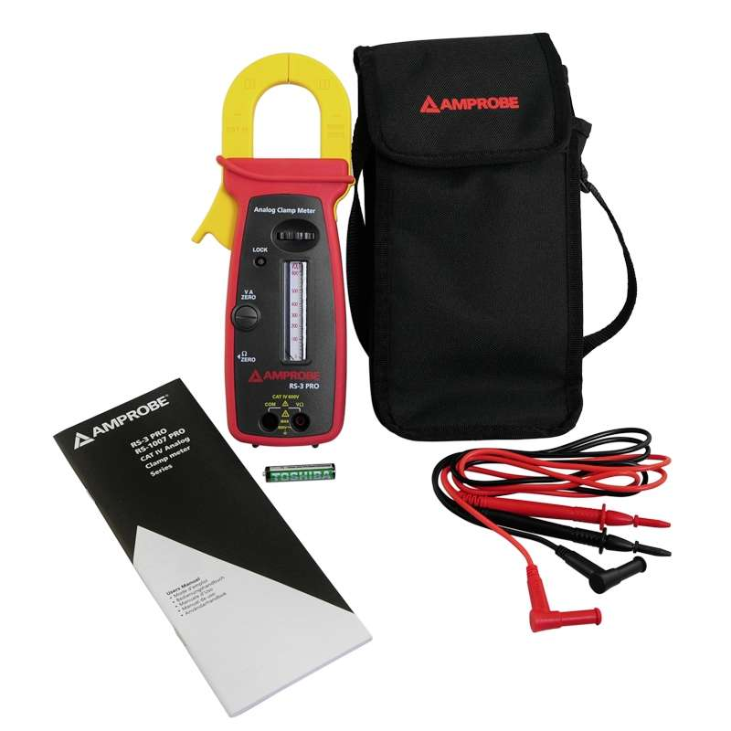 Analog 300A Clamp-On Multimeter CATIV Rated with Test Leads and Case