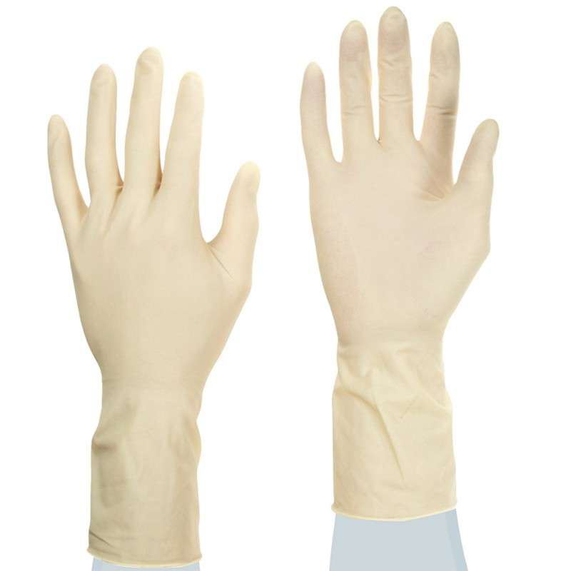 """TouchNTuff® Ultraclean Powder Free Smooth Natural Color 7mil Latex Glove, Small, 11"""" Long, 50 per Bag"""