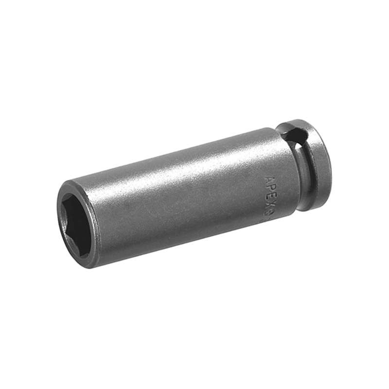 """Long 6 Point Magnetic Bolt Clearance Metric Socket for 1/4"""" Square Drive, 13mm x 1-3/4"""" Long"""