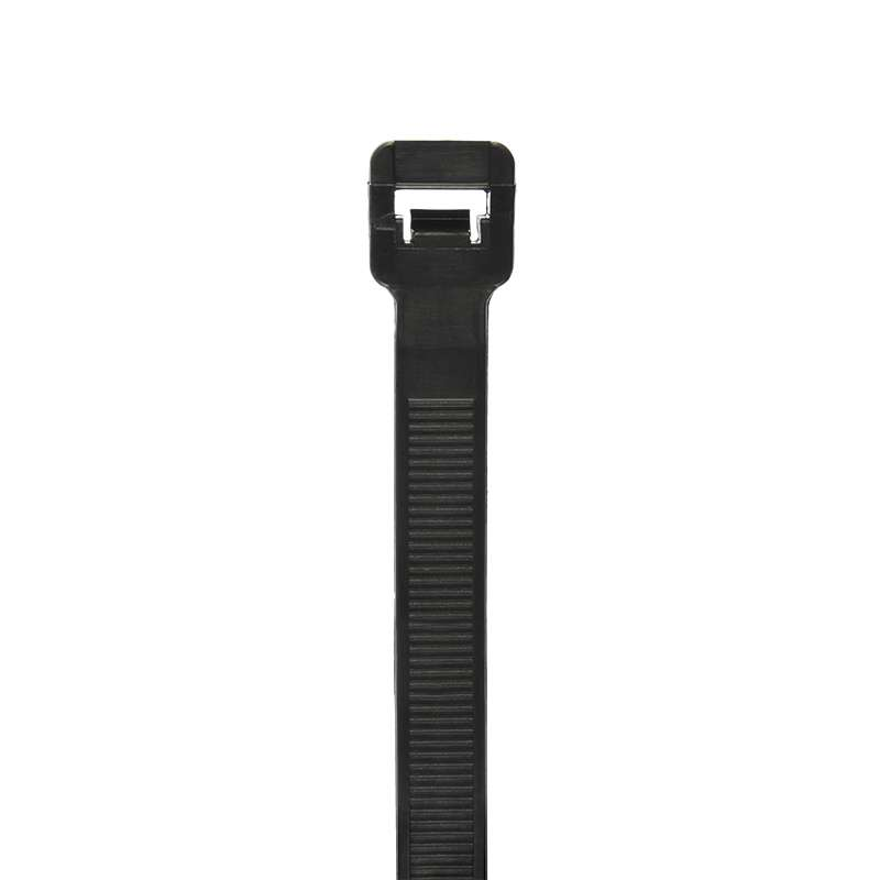 Intermediate weather resistant Cable Tie, 5.5 in, Black, 40 lb tensile strength 1M/BG
