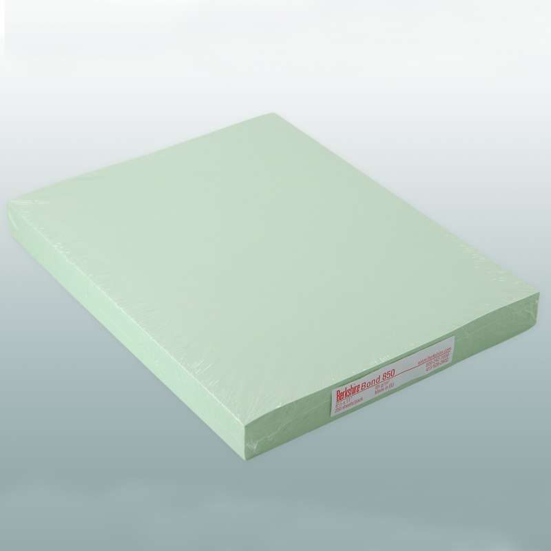 """BCR? Bond 850 Cleanroom Copy Paper, 8-1/2 x 11"""", Green, 250 Sheet per Package"""
