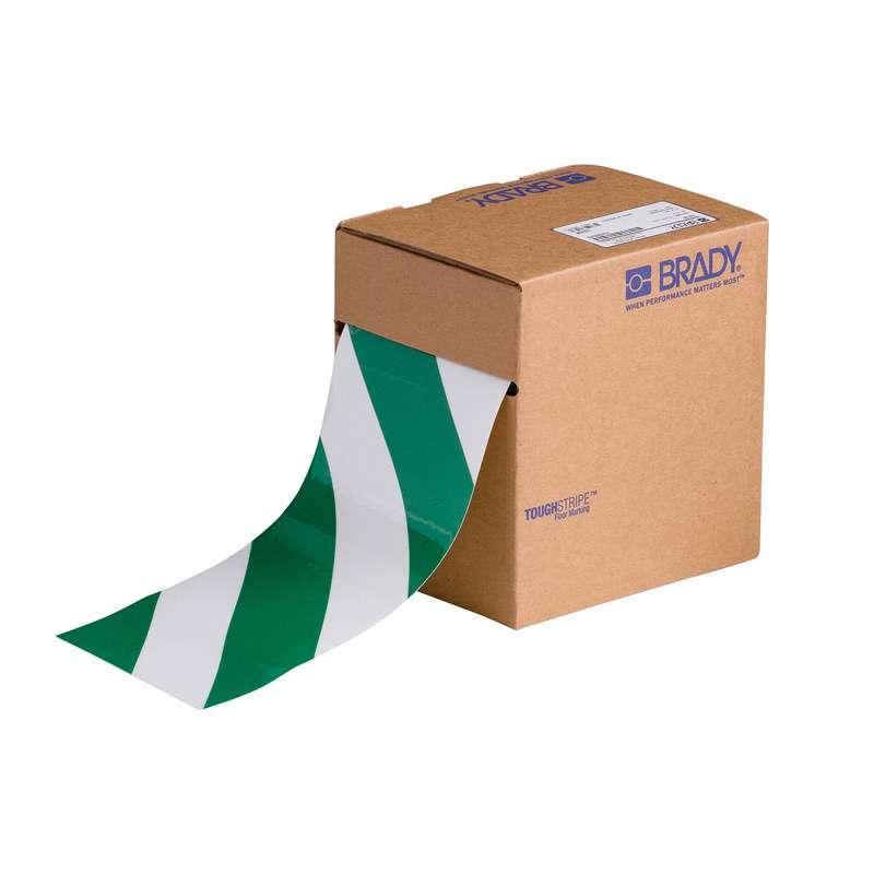 """4"""" x 100 B514 Floor Tape Green / White"""