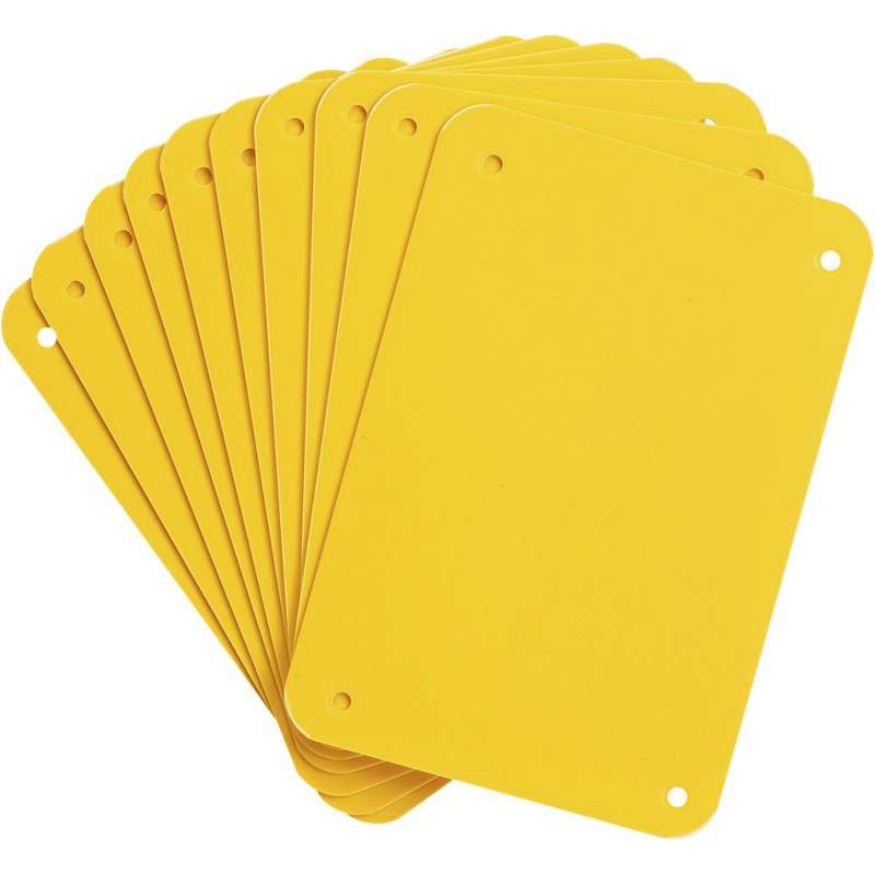"Sign Panel, Plastic, 4.25 x 6.25"", Yellow 10PK"