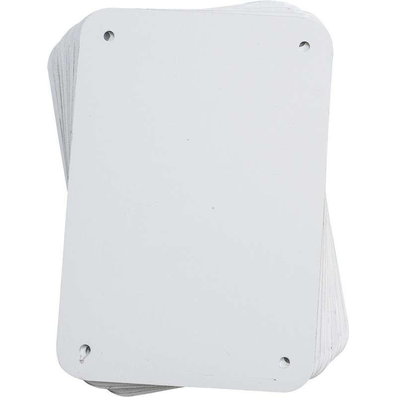 "Sign Panel, Aluminum, 4.25 x 6.25"", White, 10PK"