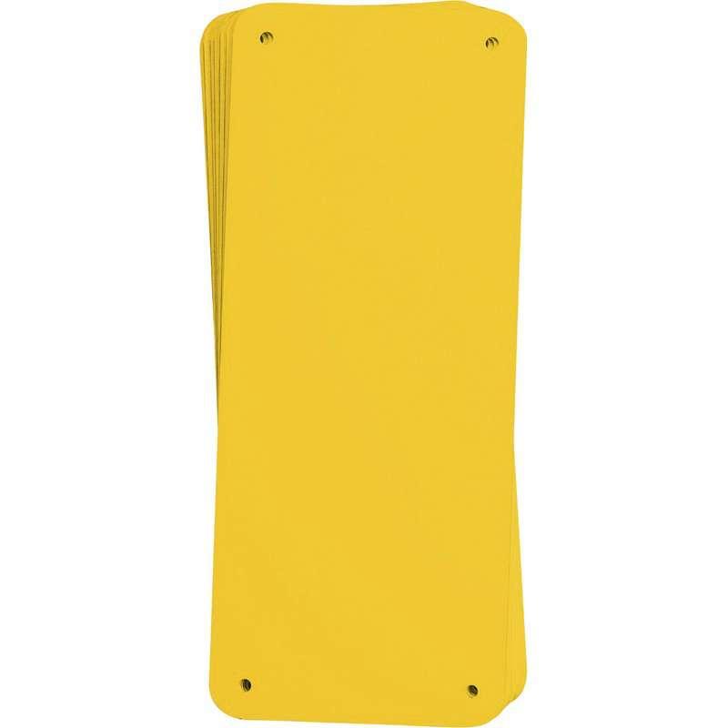 """Sign Panel, Aluminum, 4.25 x 10.25"""", Yellow 10PK"""