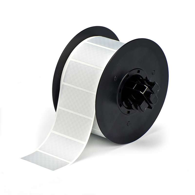 B30 Series Metallized Tamper Evident Label, Silver, B-438, 2 x 3 in, 650 Labels per Roll