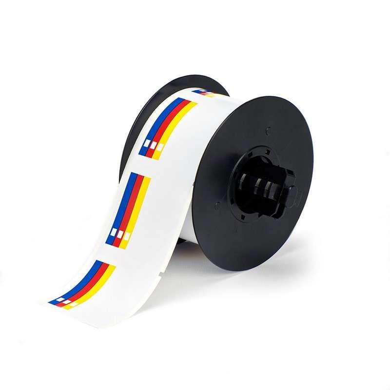 """Indoor/Outdoor Vinyl RTK Color Bar Label, 2.25"""" x 2.25"""", 365/Roll"""