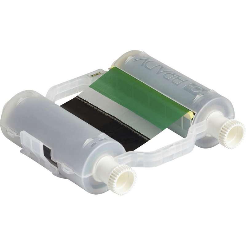 "B30 Series Heavy-Duty Multi-Color Print Ribbon, 4.33"" x 200', Black/Green"
