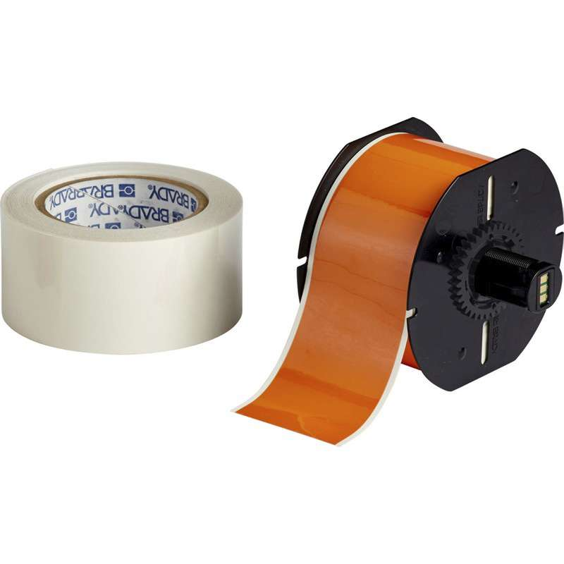"B30 Series ToughStripe® Printable Floor Marking Tape with Aggressive Adhesive, 2.25"" x 100', Orange"