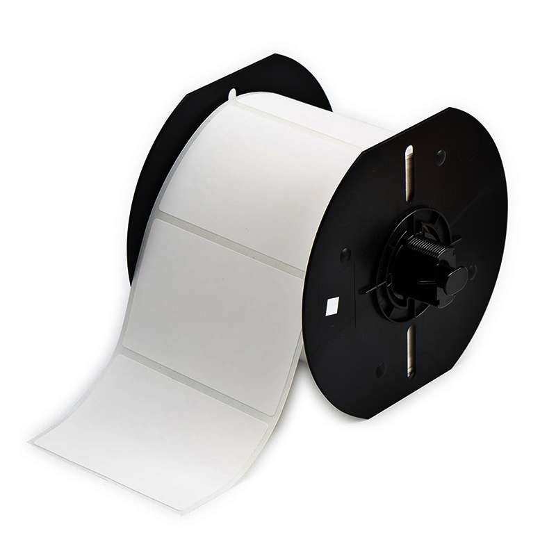 """BBP33 Polypropylene Labels with Permanent Acrylic Adhesive, Matte White, 3"""" x 2"""", 500 per Roll"""