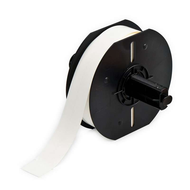 """BBP33 Repositionable Continuous Vinyl Cloth Wire Marker, Gloss White, 3/8"""" x 85', 1 per Roll"""