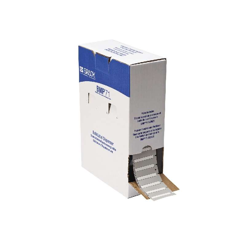 """BMP?71 PermaSleeve® Polyolefin Wire Marker Sleeves, Matte White, 1.765"""" x 0.235"""", 1000 per Roll"""