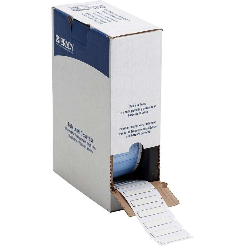 """BMP™71 PermaSleeve® Polyolefin Wire Marker Sleeves, Matte White, 1.765"""" x 0.439"""", 1000 per Roll"""