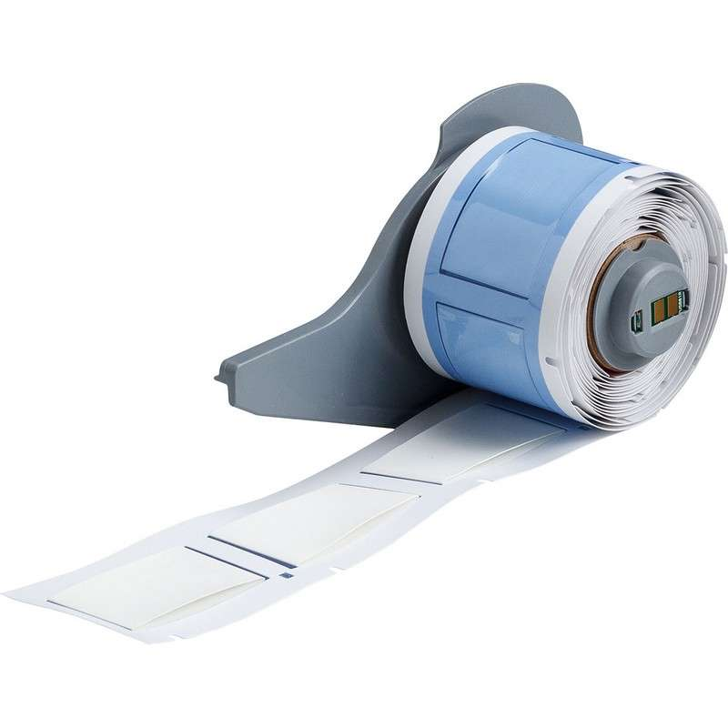 """BMP®71 Series PermaSleeve? Polyolefin Wire Marker Sleeves, Matte White, 1.015"""" x 1.660"""", 50 per Roll"""
